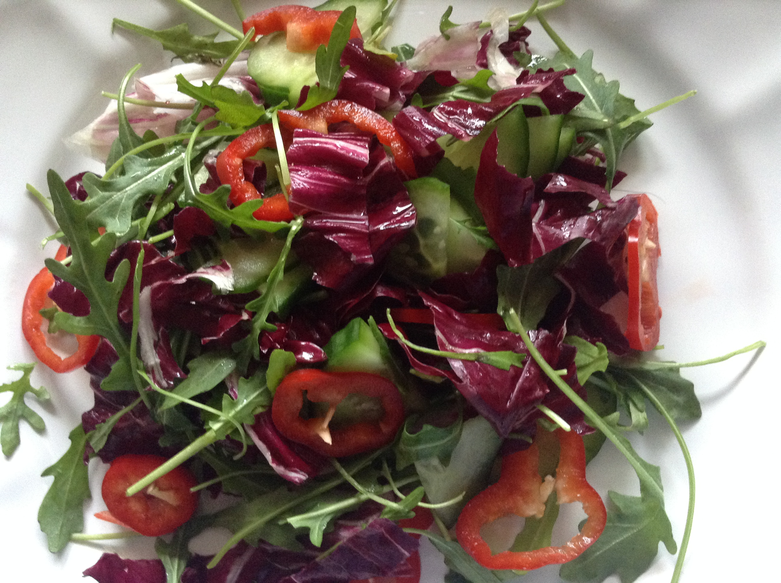 Romano peppers & pecorino cheese salad