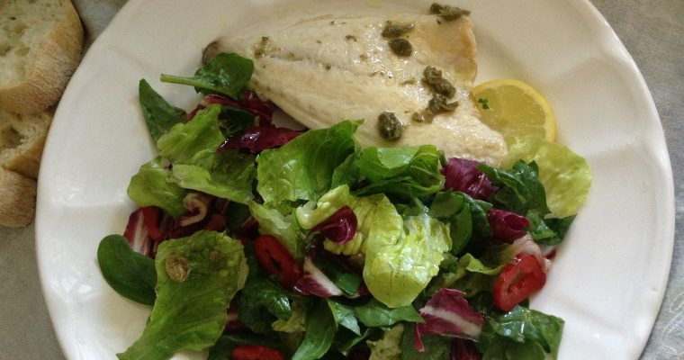 Sea bream with capers vinagrette & Italian rainbow salad
