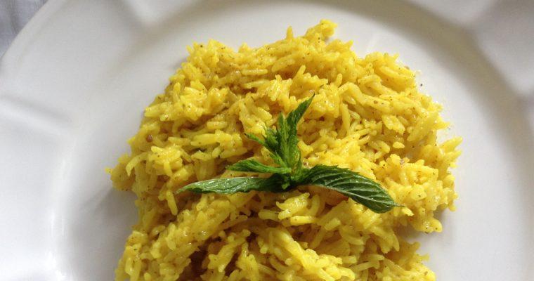 Zataar & turmeric rice