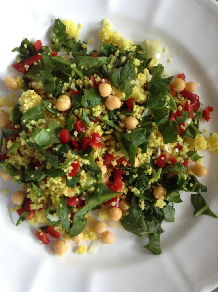 Turmeric cous-cous salad