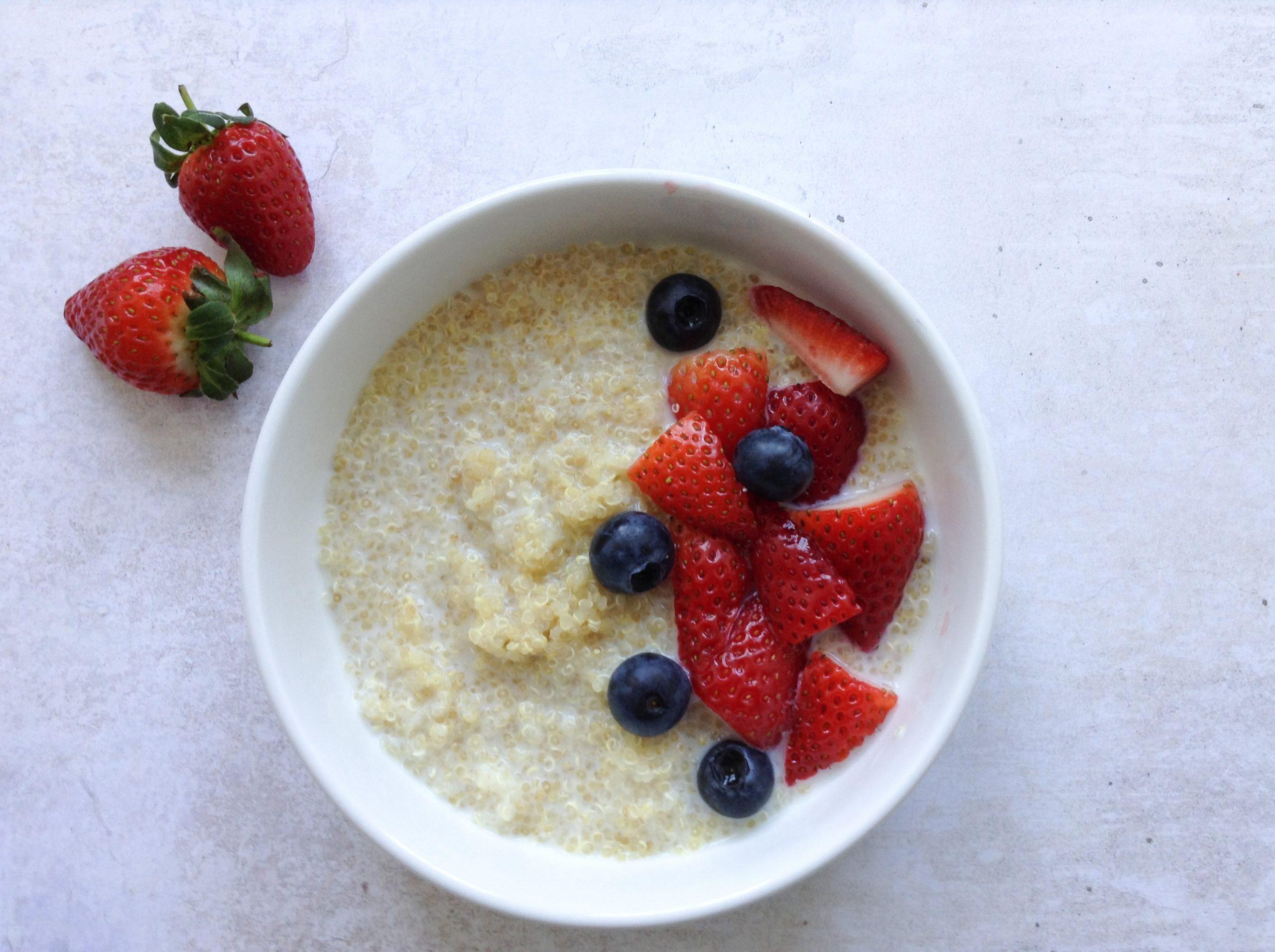 Gluten-free quinoa breakfast bowl