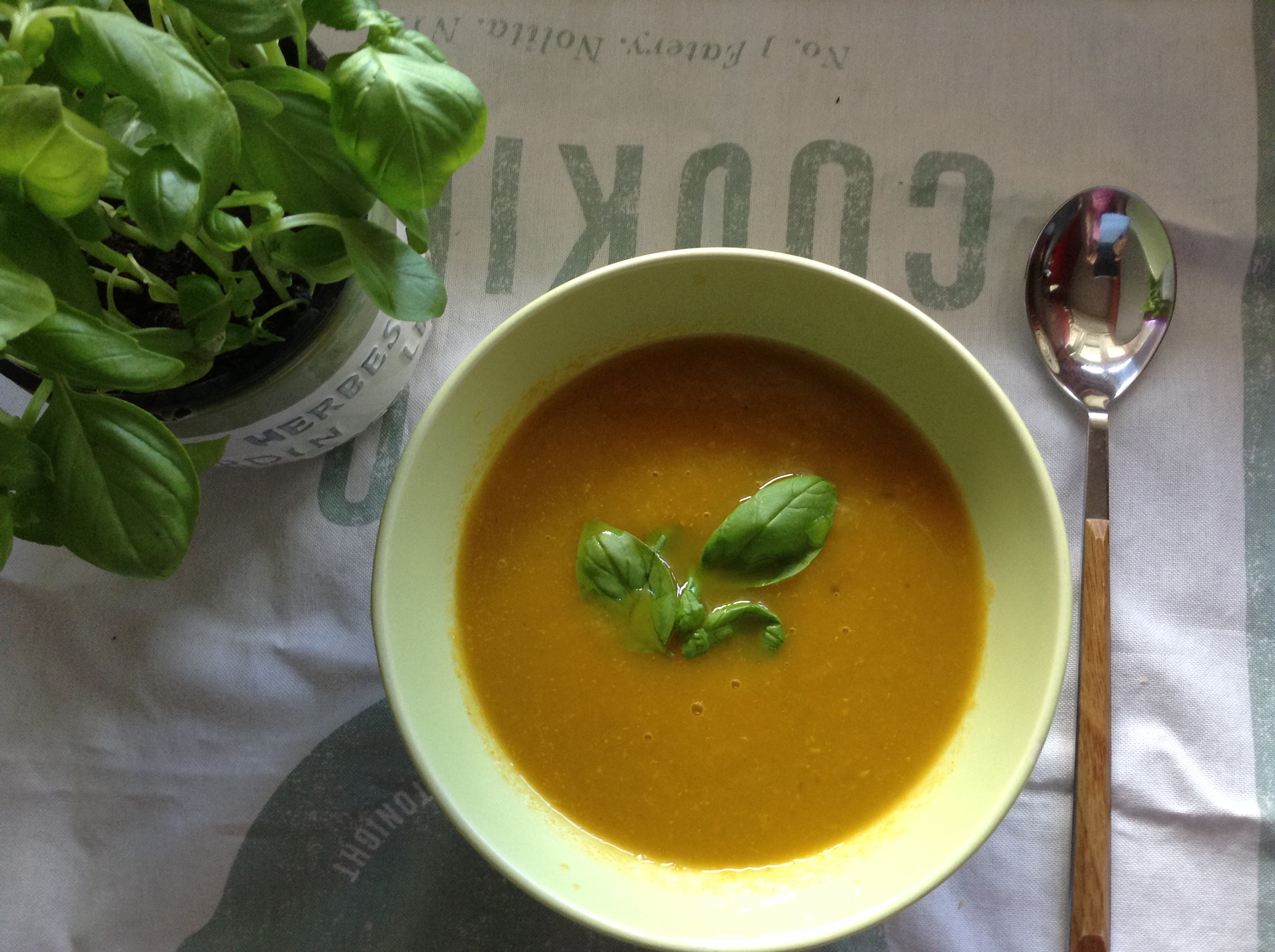 Carrots & basil soup