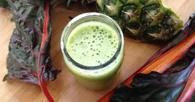 My favorite green juice: chard & pineapple juice