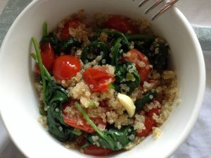 "Spinach & tomatoes ""quinotto"" - Lemons & Olives recipes"