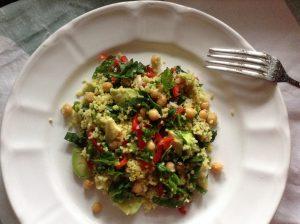 Chickpeas & avocado turmeric cous-cous