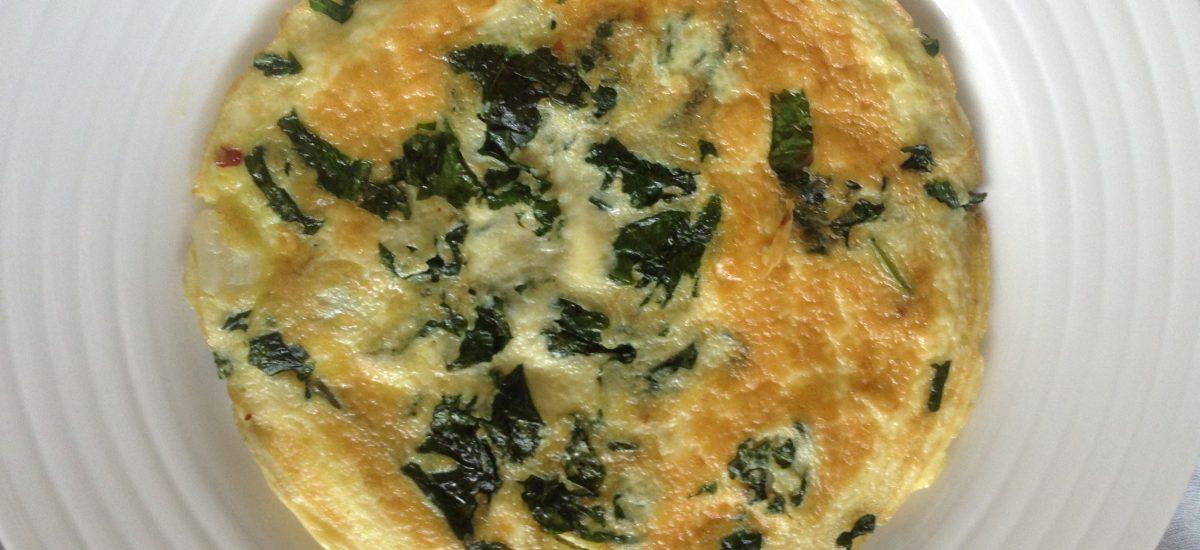 Kale & feta frittata