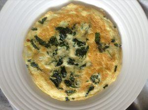 Kale & feta cheese frittata