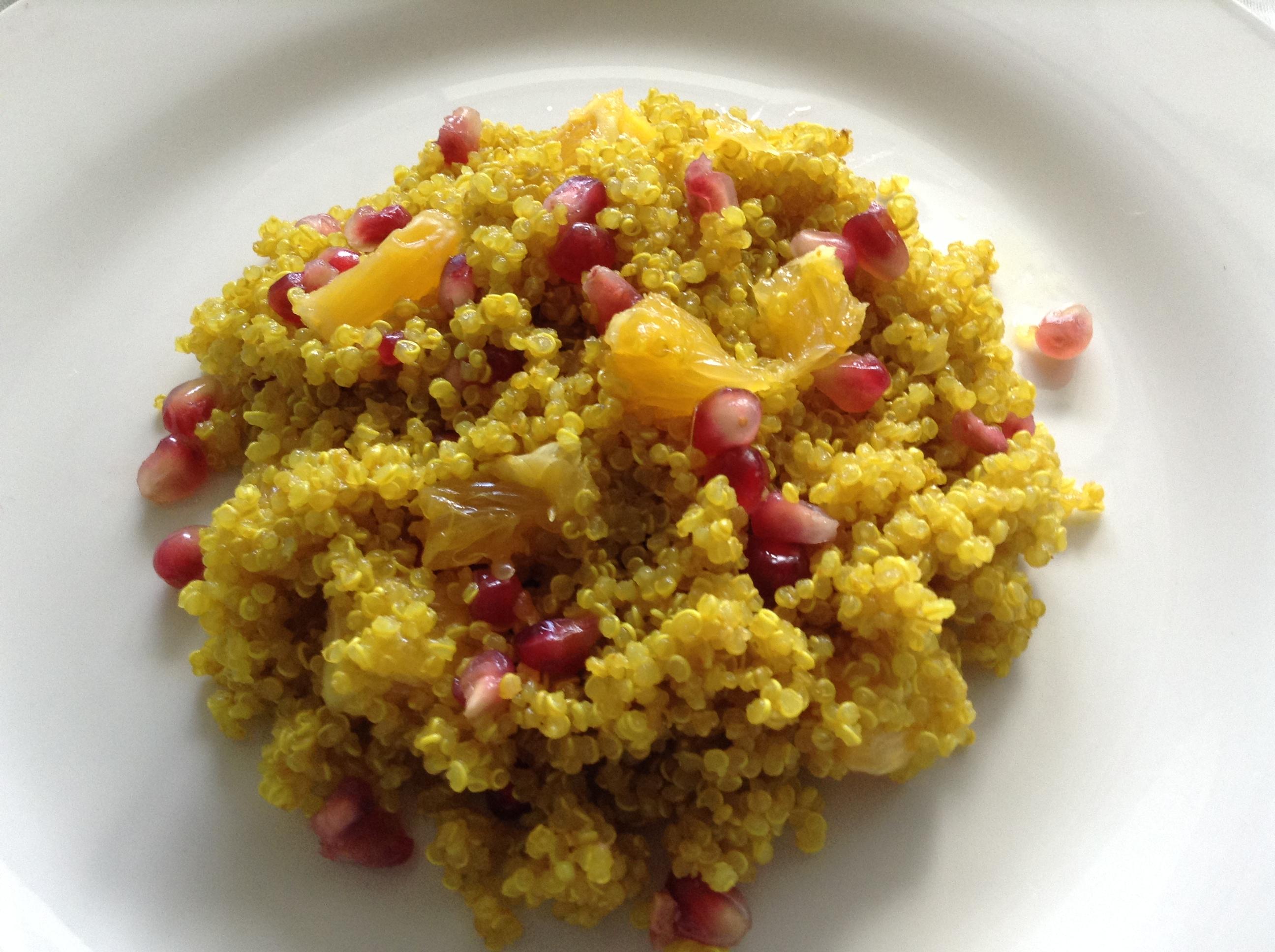 Pomegranate & orange quinoa salad