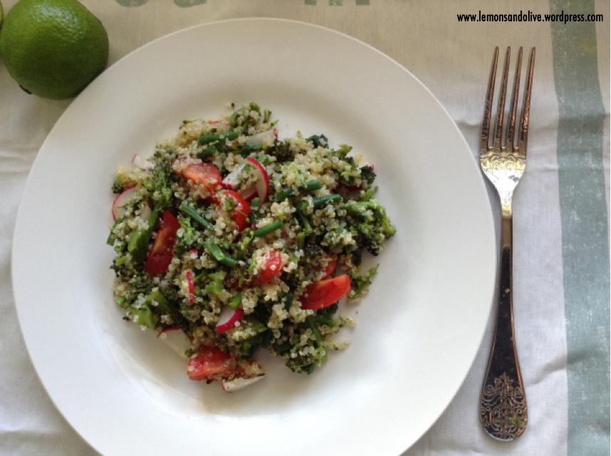 Purple & green quinoa salad