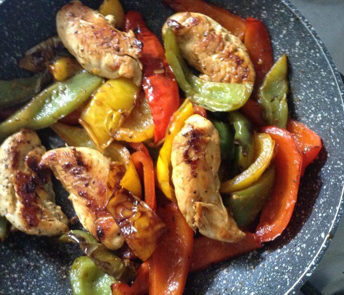 Italian chicken & peppers (peperonata)