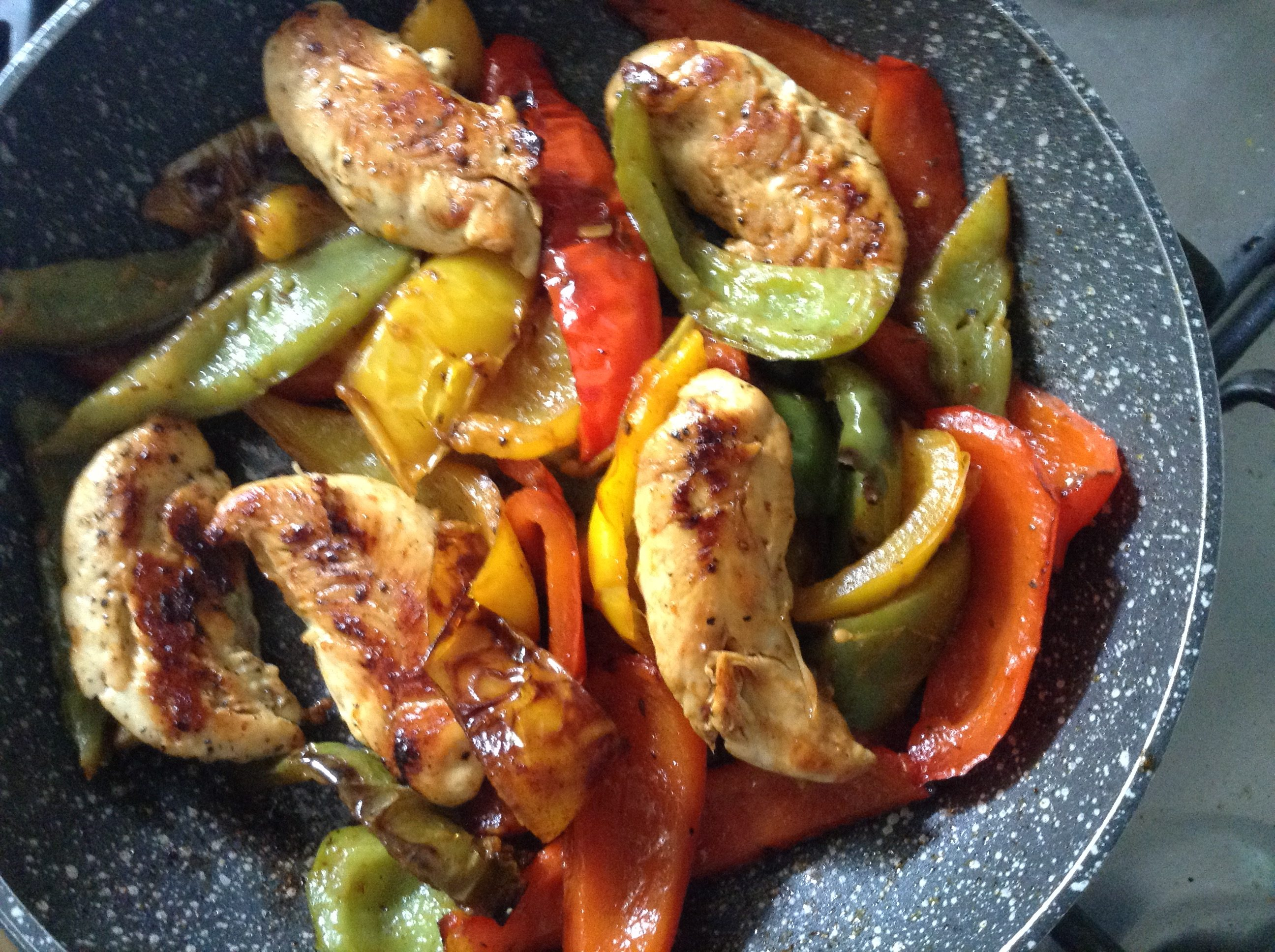 Italian chicken & peppers (peperonata)
