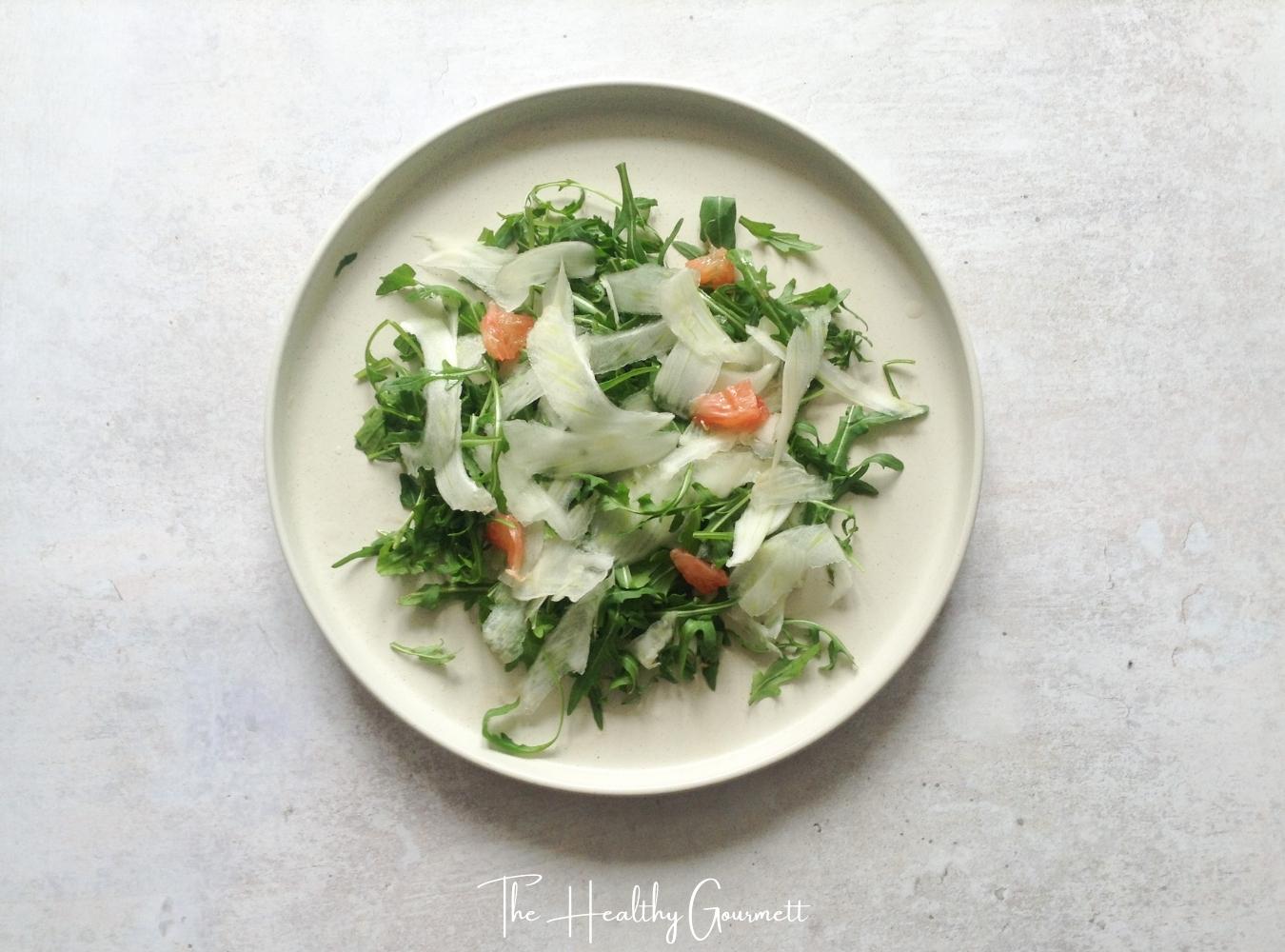 Fennel, rocket & grapefruit salad