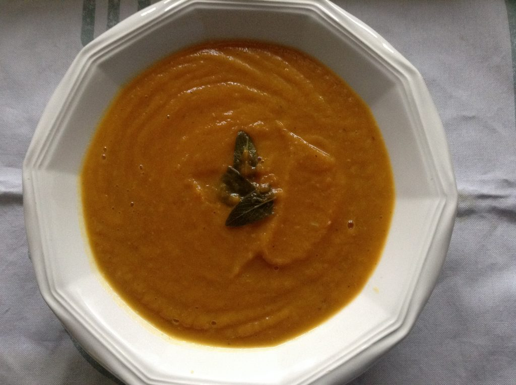 Pumpkin sage Serrano ham soup | The Healthy Gourmet