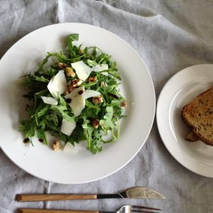Rocket, walnuts & Grana Padano salad | The Healthy Gourmet