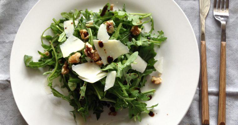 Rocket, walnuts & grana padano cheese salad