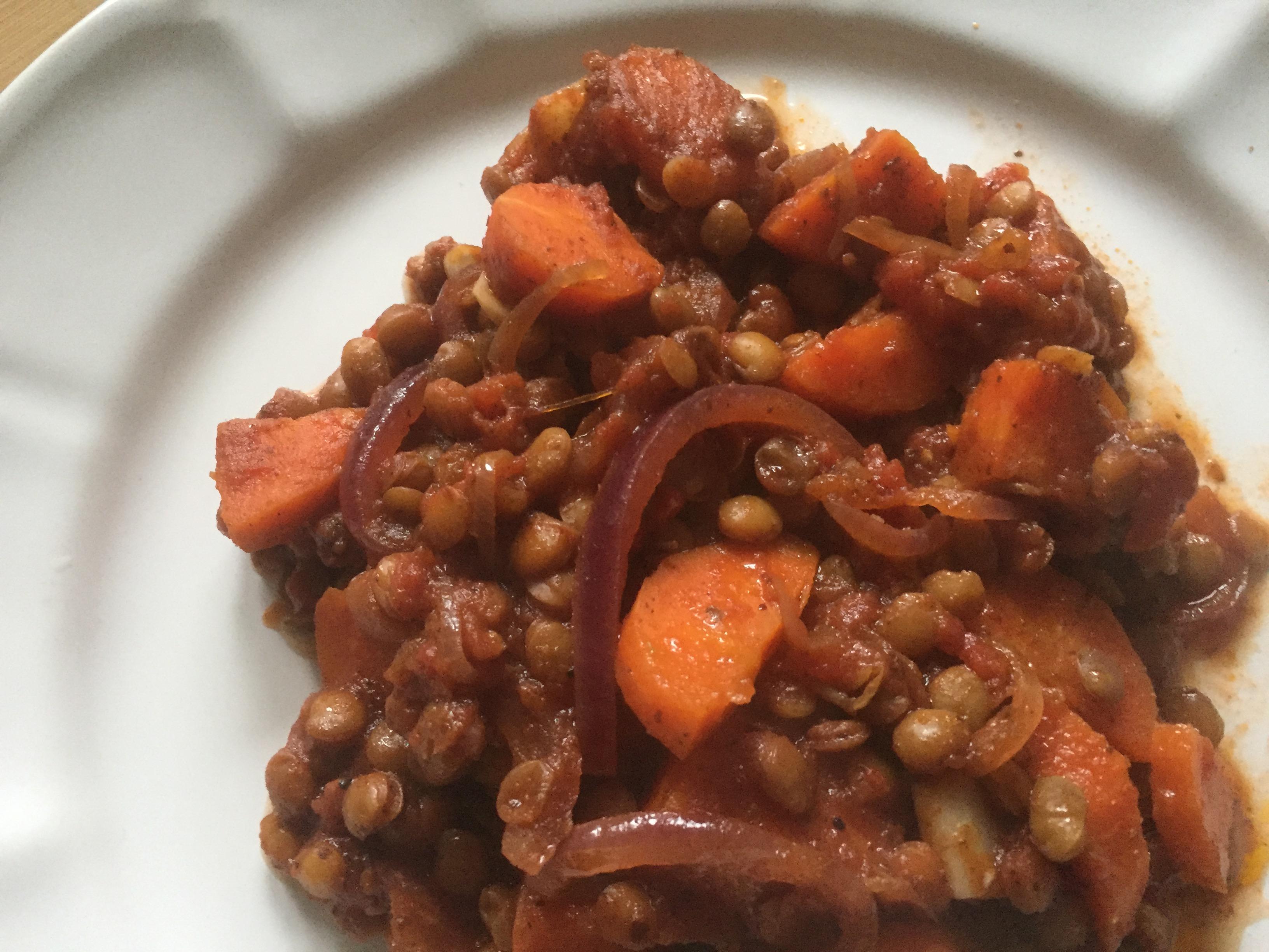 Sumac lentils & carrots stew