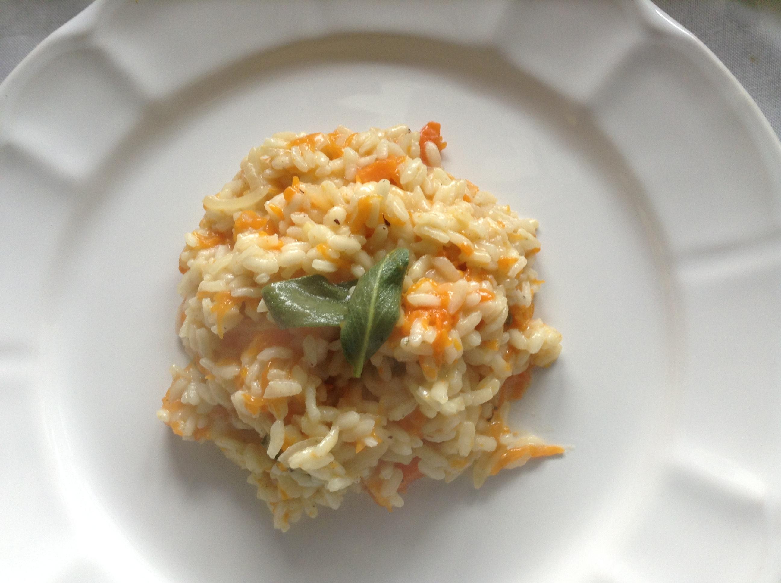 Pumpkin & sage risotto