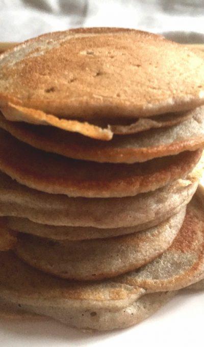 Buckwheat, banana & cinnamon pancakes ( gluten-free+ dairy-free + nuts-free  )
