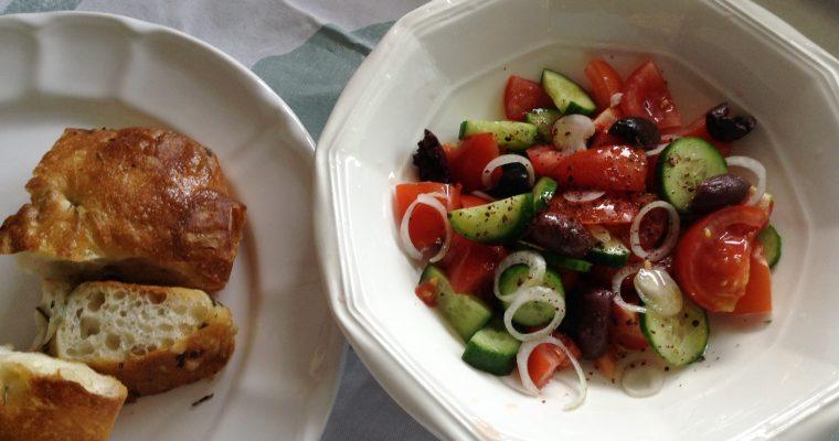 The healthy gourmet Greek salad