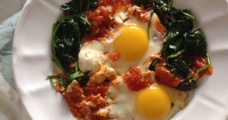 Easy Mediterranean Shakshuka eggs