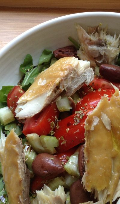 Summer mackerel salad