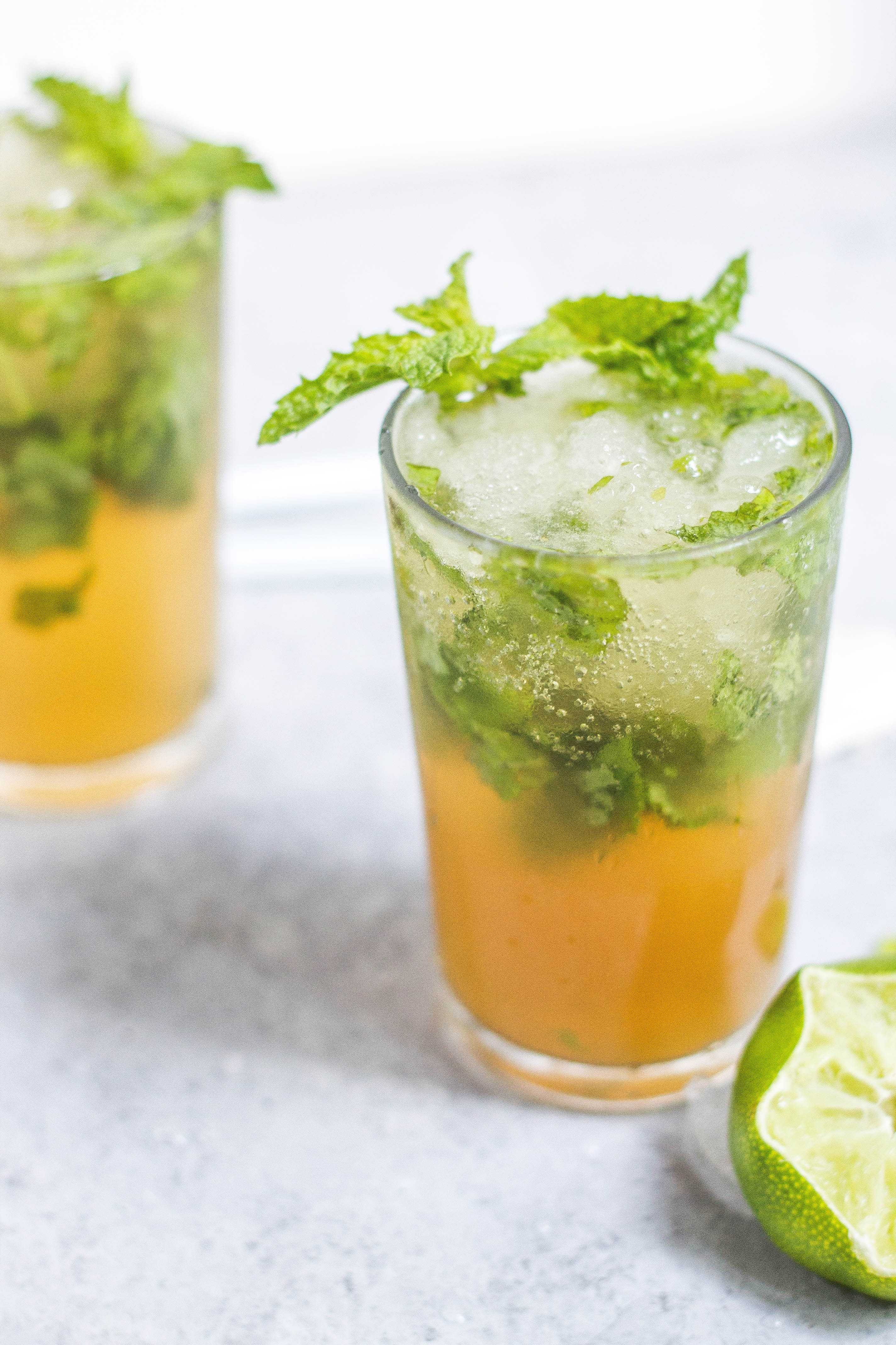 Japanese iced Sencha green tea