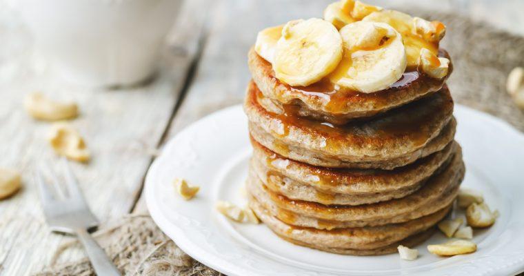 Buckwheat, banana & cinnamon pancakes