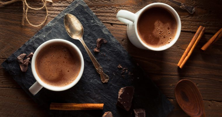 Raw cocoa & cinnamon hot chocolate