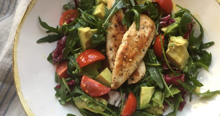 Italian Chicken & avocado salad