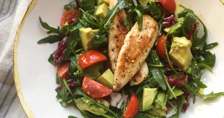 Italian Chicken & avocado salad