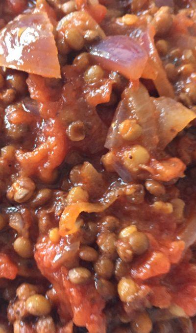 Easy lentils stew