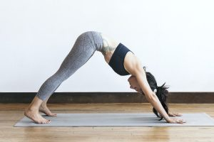 woman yoga pilates