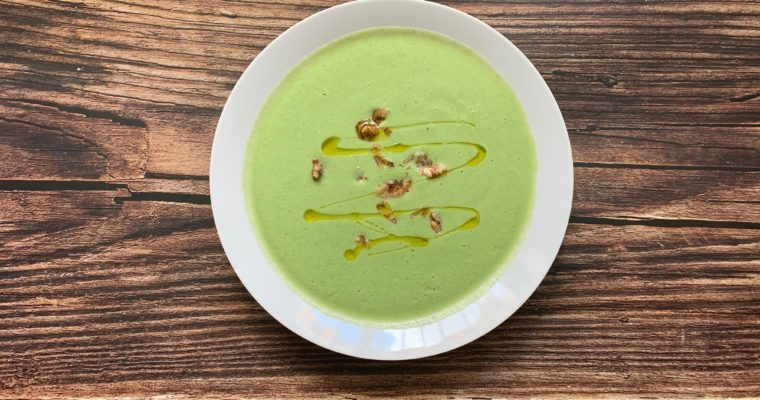 Courgettes & shallots soup