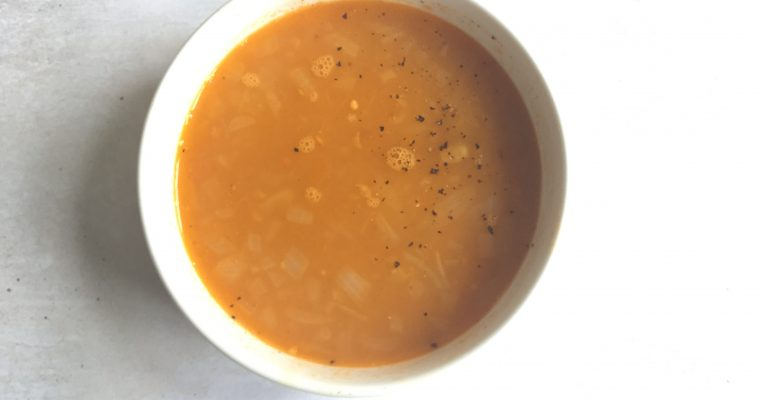 Easy red lentils soup