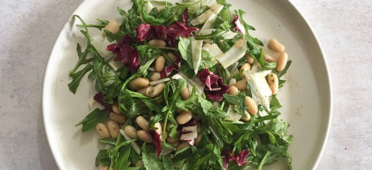 Fennel & white beans salad