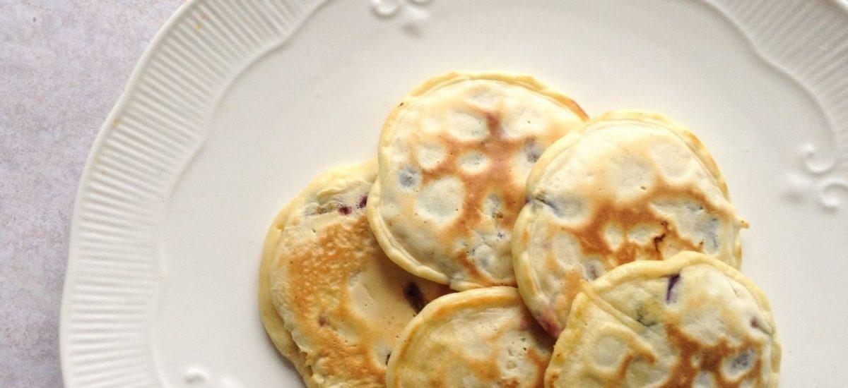 Low sugar blueberry pancakes