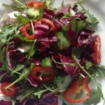 Romano peppers & pecorino cheese salad